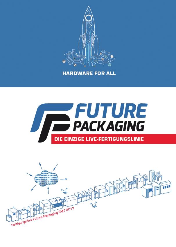 FUTURE PACKAGING - Die Fertigungslinie auf der SMT 2017 setzt weiterhin den technischen Schwerpunkt auf die schnellst mögliche Anpassungsfähigkeit der Produktionsanlagen an die zu fertigenden Produkte.