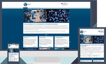 Responsive Webdesign für Desktop-Websites, auf Tablet oder Smartphones